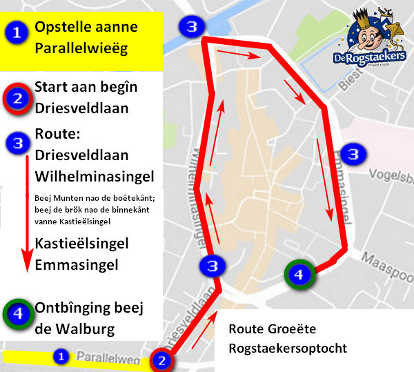 Route Groeëte optocht